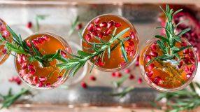 champage granaat appel drankje kerst glutenvrij lactosevrij