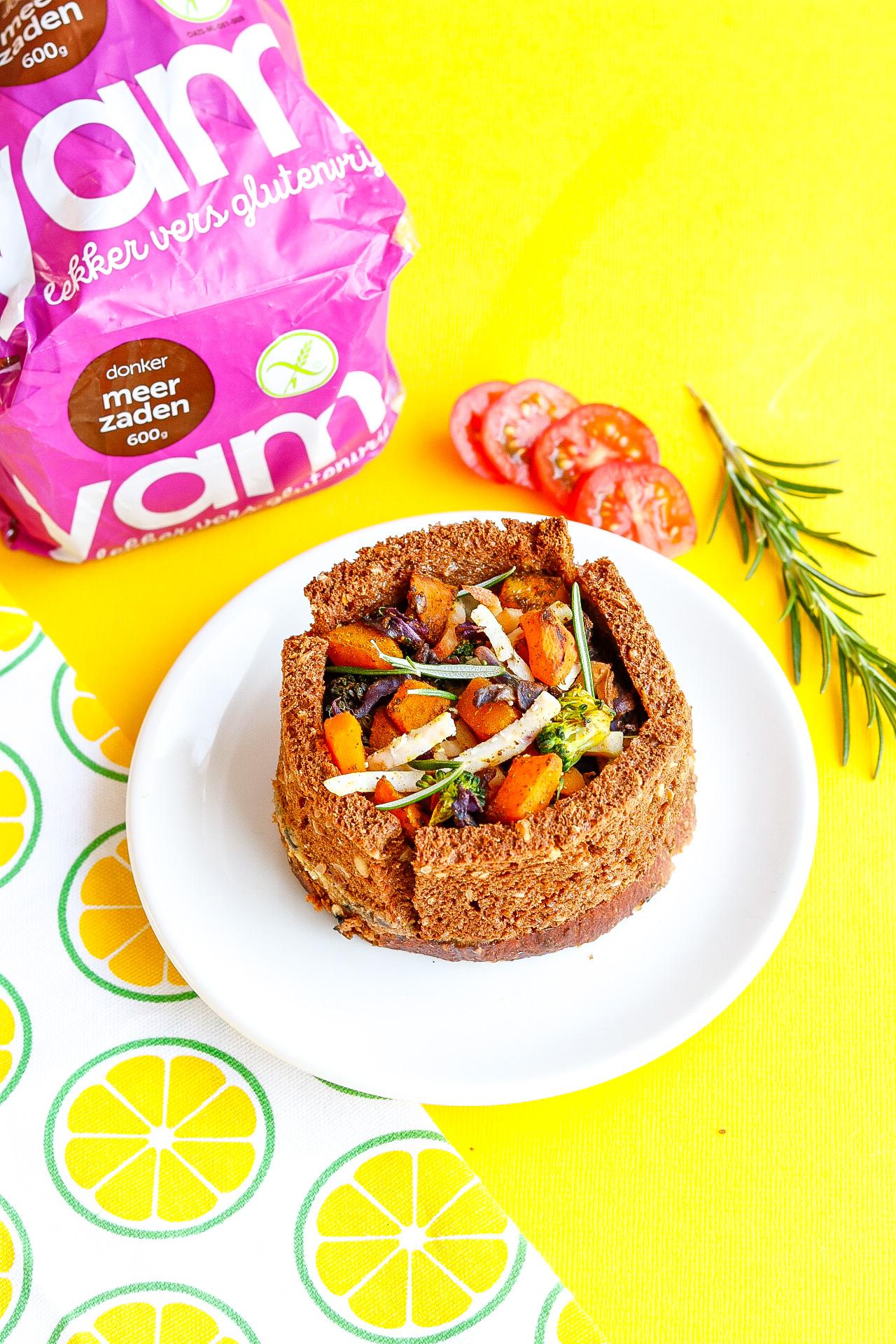 Glutenvrije hartige taart om mee te lunchen
