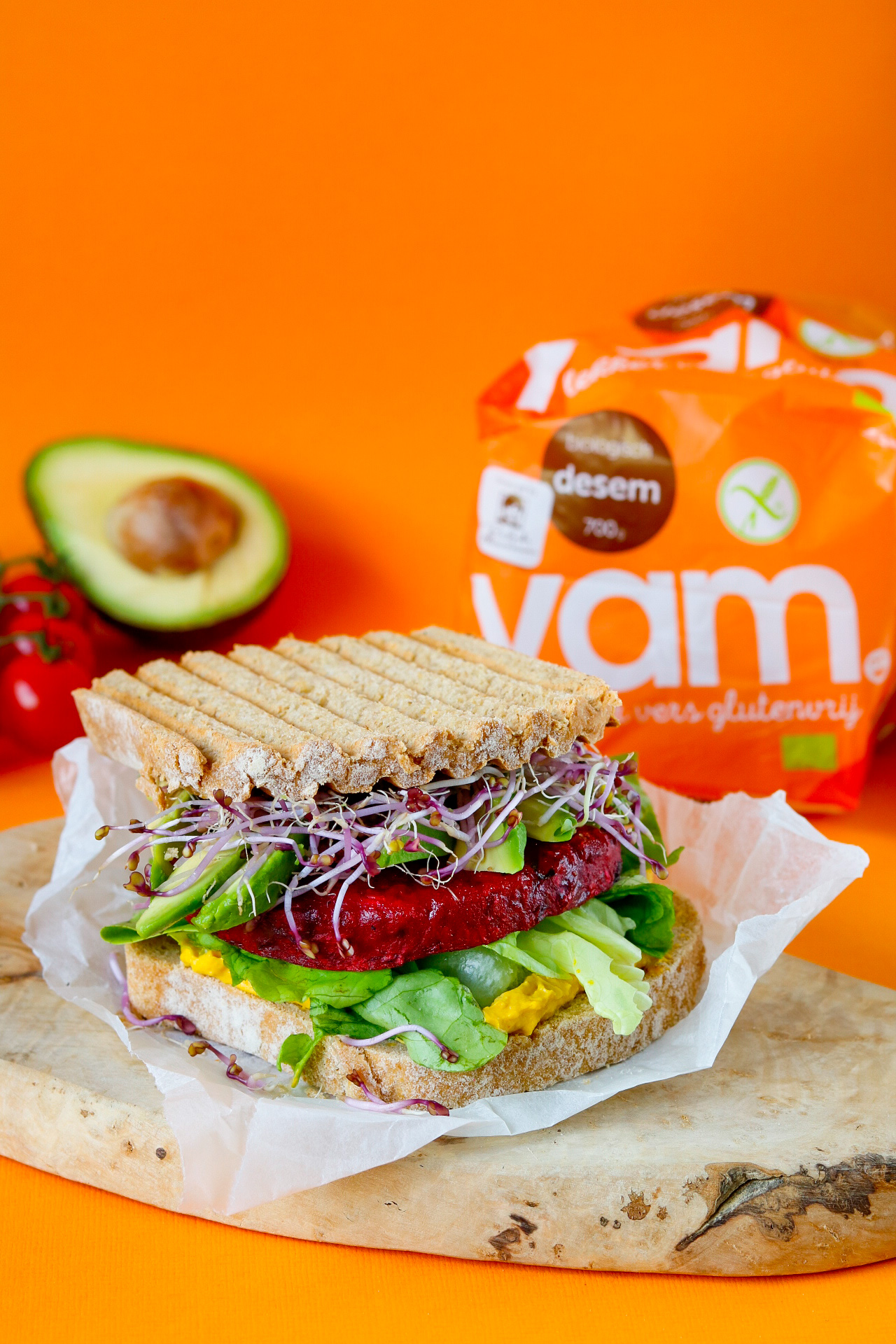 Glutenvrije bietenburgers met YAM desem