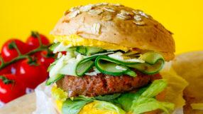 Glutenvrije hamburger met YAM bruin bolletje