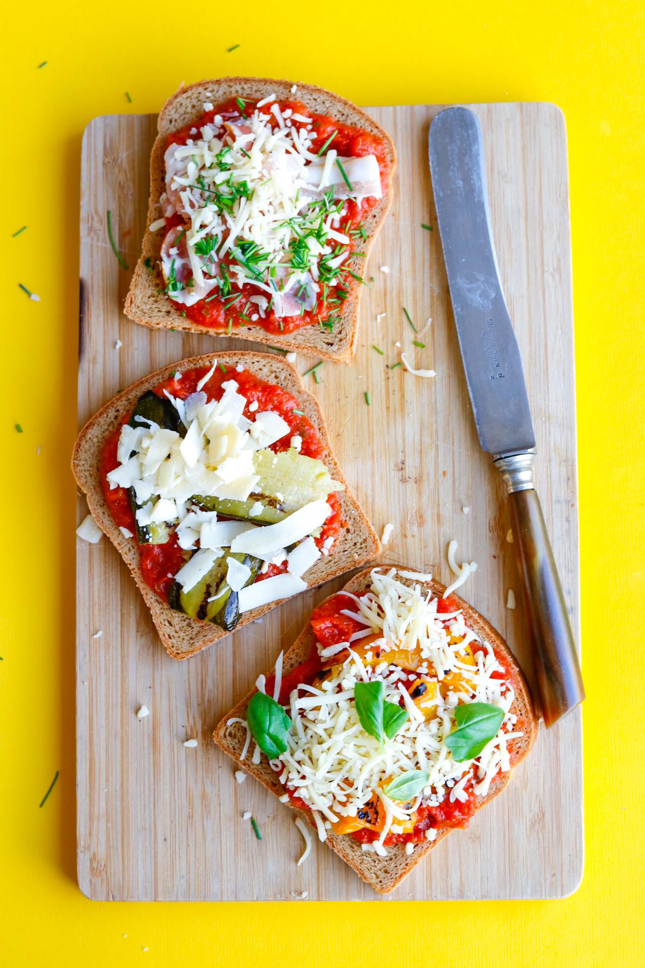 Glutenvrije pizzabroodjes
