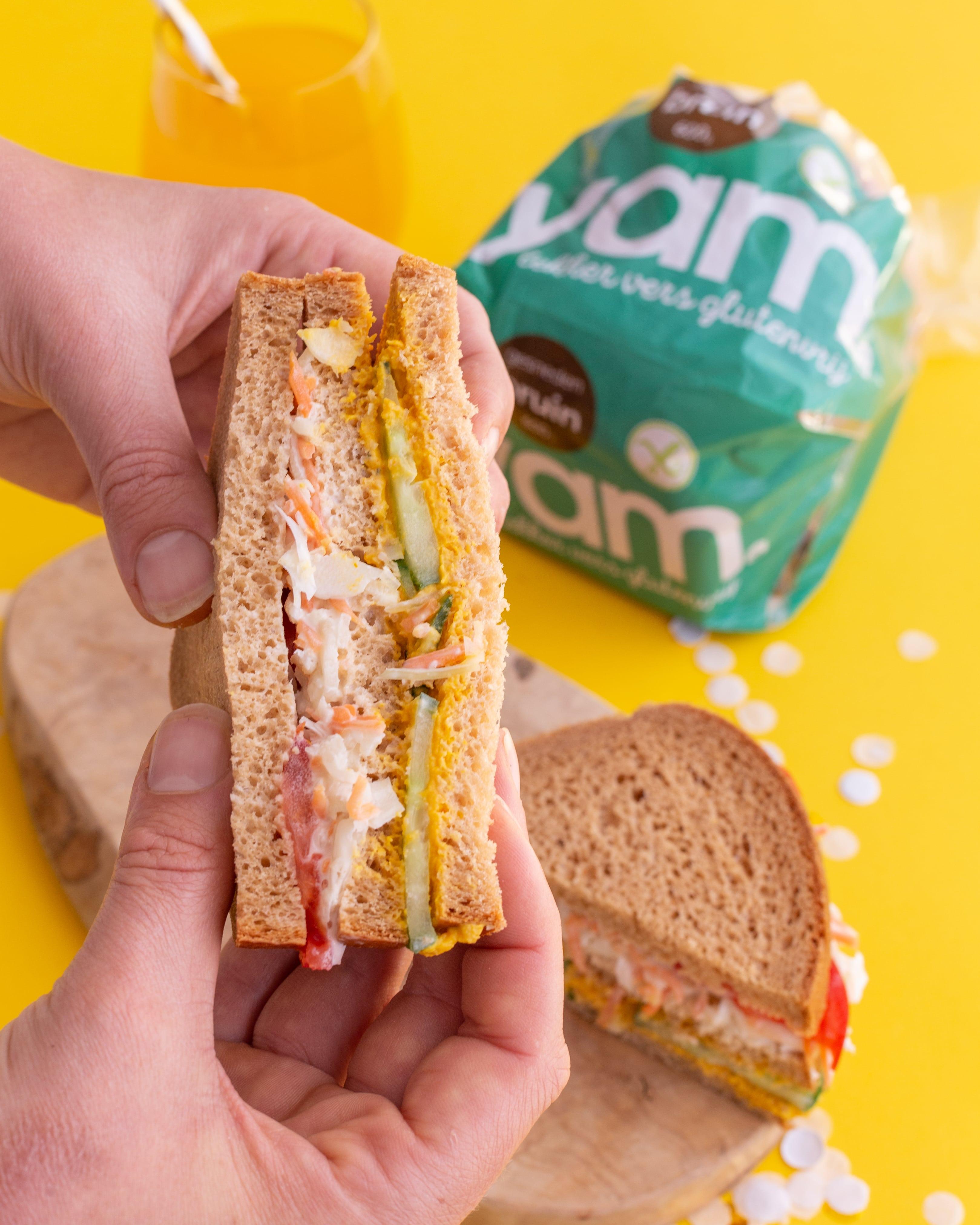 Glutenvrije lunch sandwich