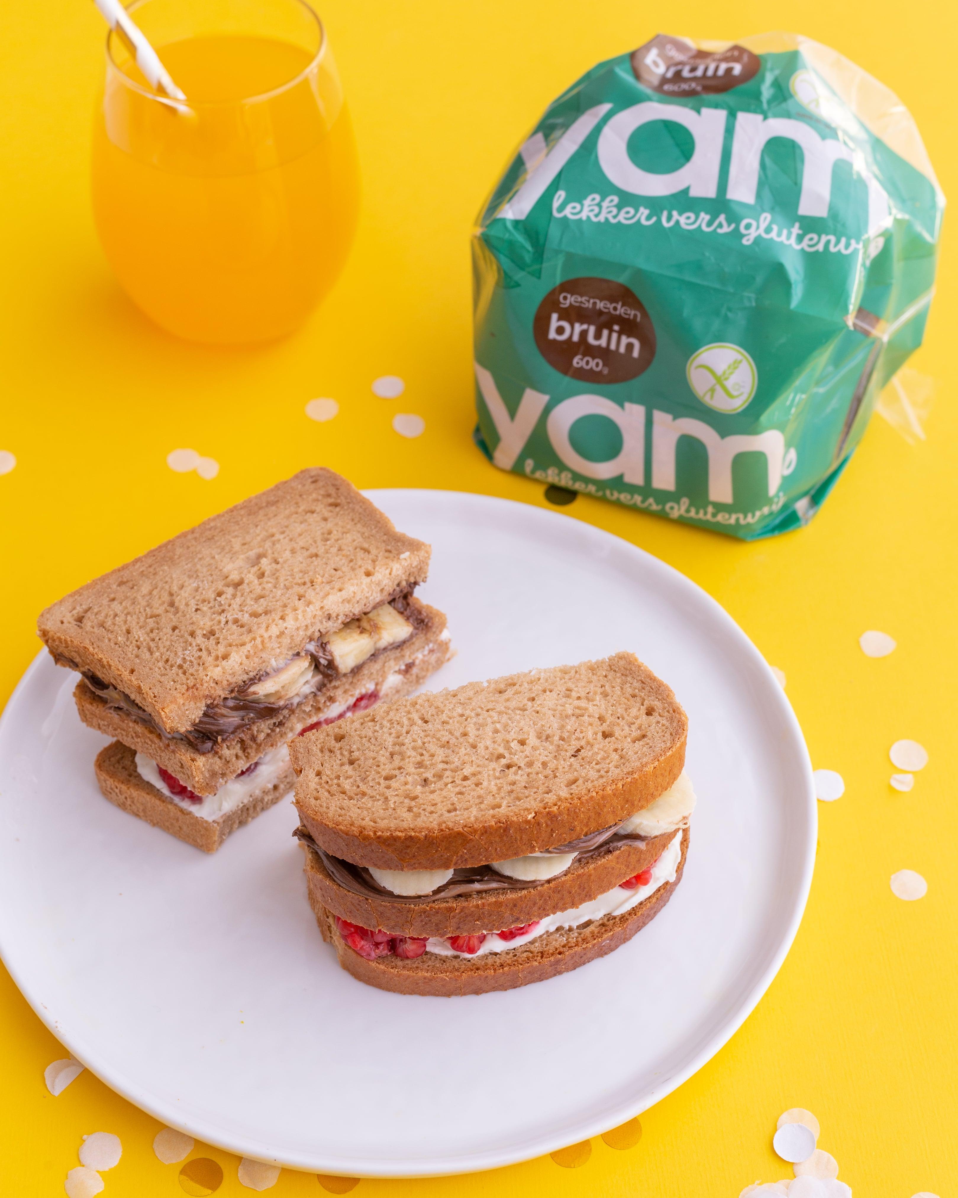 Glutenvrije zoete sandwich