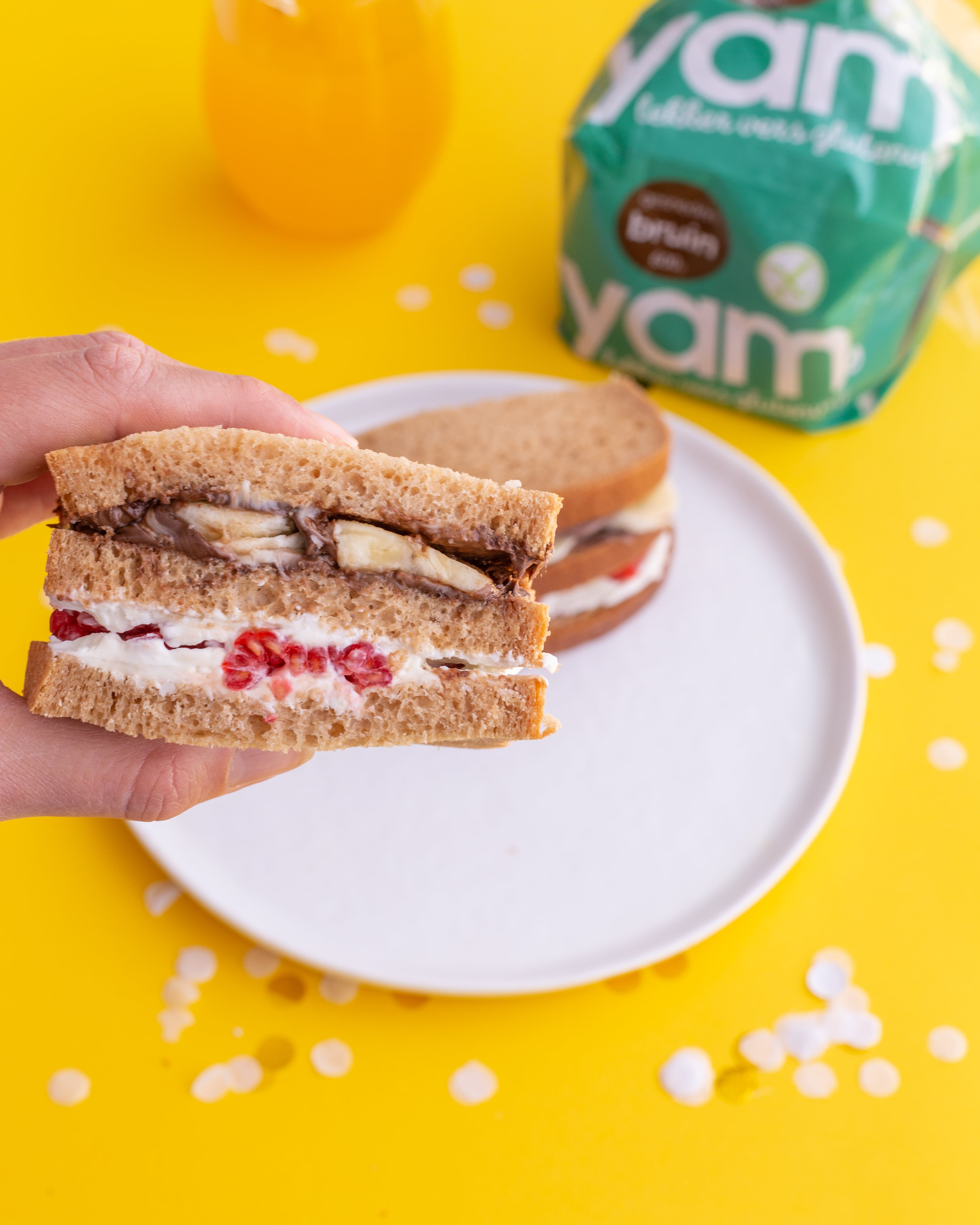 Glutenvrije zoete sandwich om van te genieten!
