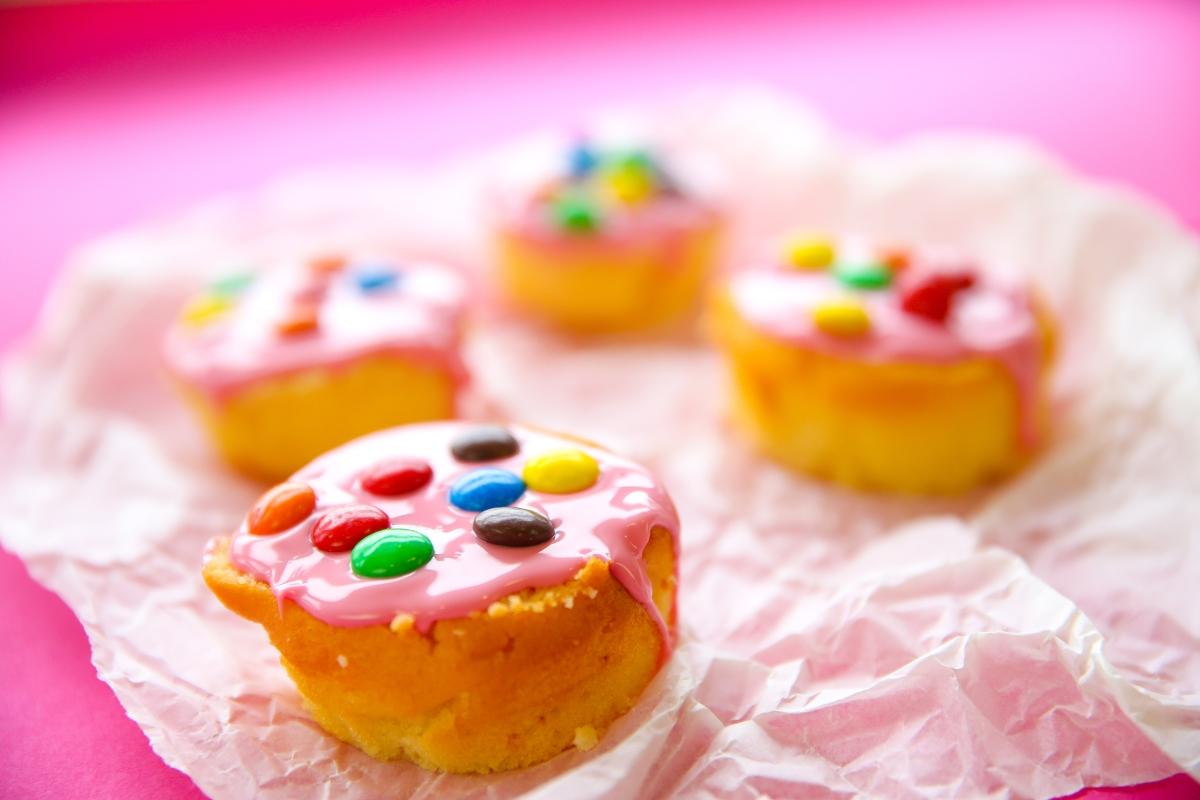 Glutenvrije roze koeken