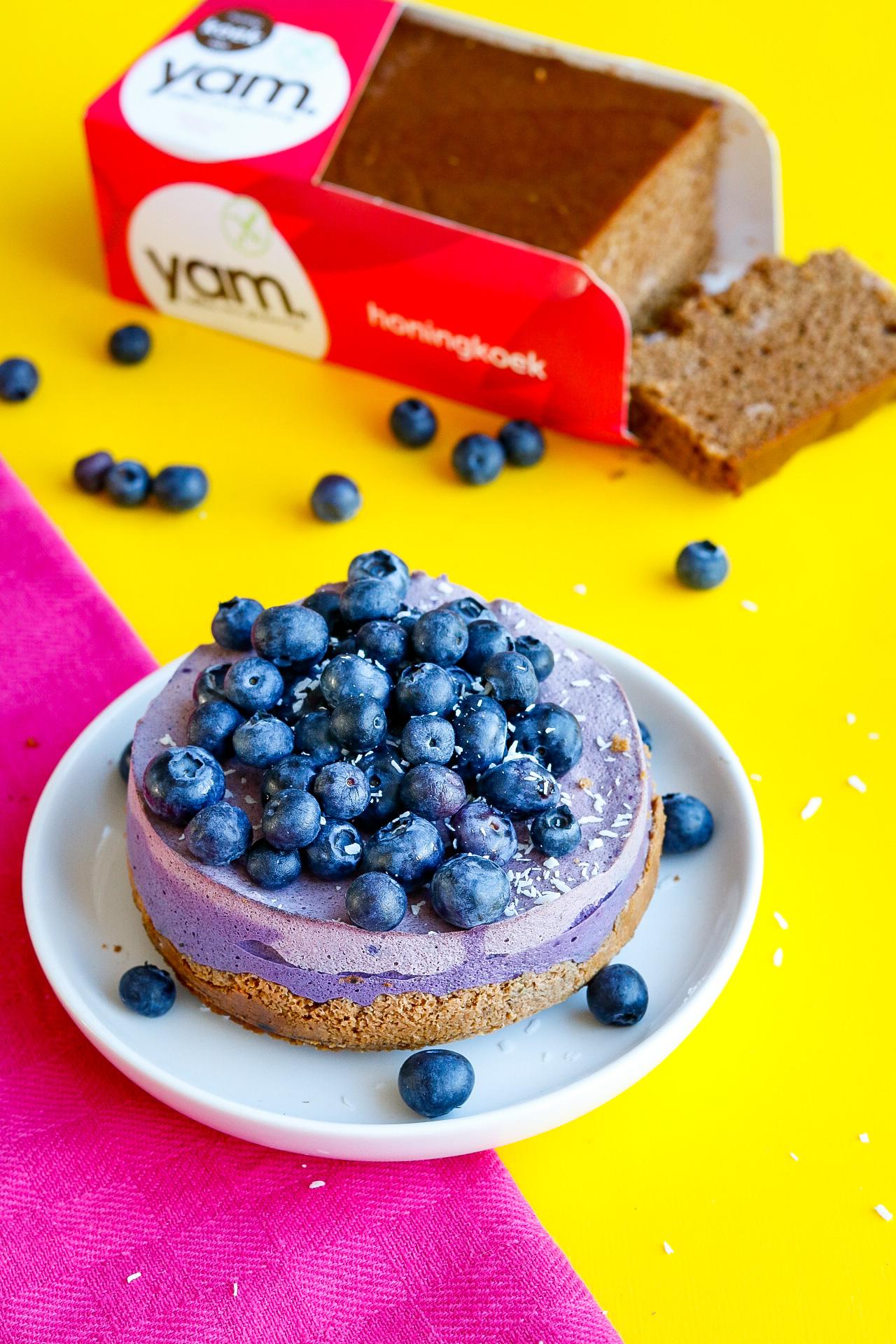 Glutenvrije ontbijttaart met een bodem van YAM honingkoek