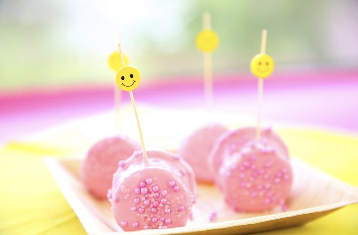 Glutenvrije roze cakepops
