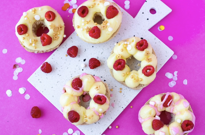 Glutenvrije donuts met gele room